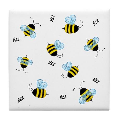 Swarming Honeybees Tile Coaster