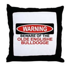 OLDE ENGLISHE BULLDOGGE Throw Pillow