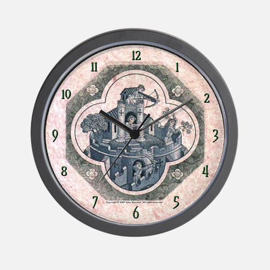 Defending the Castle of Love Wall Clock
