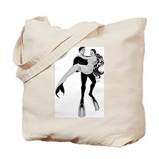 Diver and Mermaid Tote Bag