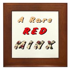 Red Minx Framed Tile