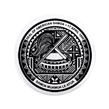"Seal of Samoa 3.5"" Button"