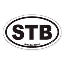 Standardbred STB Euro Oval Bumper Stickers