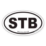 Standardbred STB Euro Oval Sticker