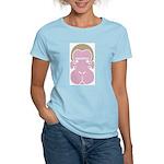 Monkey face Women's Pink T-Shirt