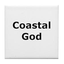 Coastal God Tile Coaster