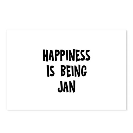 Happiness is being Jan Postcards (Package of 8)
