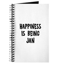 Happiness is being Jan Journal