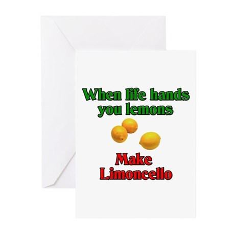 When Live Hands You Lemons Greeting Cards (Pk of 2