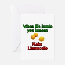 When Live Hands You Lemons Greeting Cards (Pk of 1