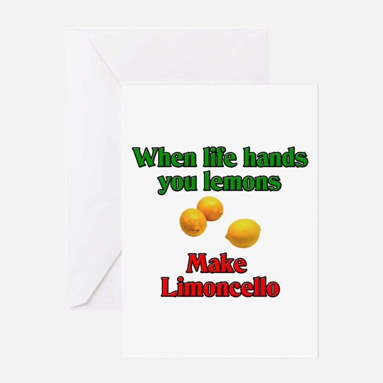 When Live Hands You Lemons Greeting Card