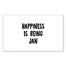 Happiness is being Jan Rectangle Decal