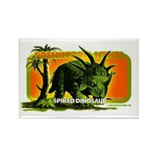 retro art!'s SPIKED DINO Rectangle Magnet