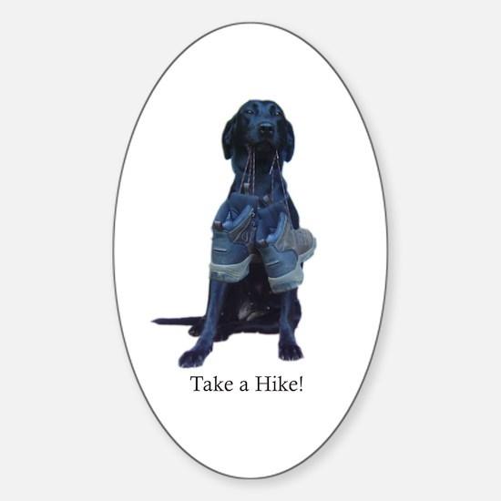 take a hike Oval Decal