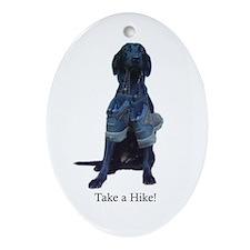take a hike Oval Ornament