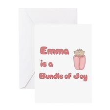 Emma is a Bundle of Joy Greeting Card