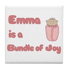 Emma is a Bundle of Joy Tile Coaster