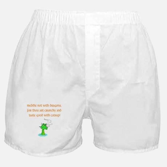 Meddle Not (green dragon) Boxer Shorts