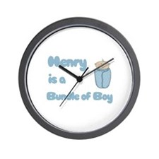 Henry is a Bundle of Boy  Wall Clock