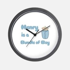 Henry is a Bundle of Boy  Wall Clock