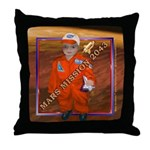 Baby Aviator Mars Mission Throw Pillow
