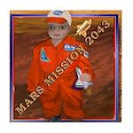 Baby Aviator Mars Mission Tile Coaster