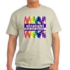 straight but not narrow Ash Grey T-Shirt