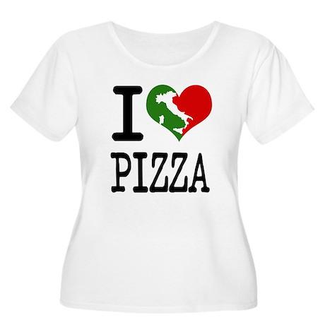 I Love Pizza Women's Plus Size Scoop Neck T-Shirt