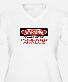 PODENCO ANALUZ Womes Plus-Size V-Neck T-Shirt