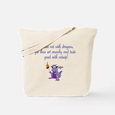 Meddle not (purple dragon) Tote Bag