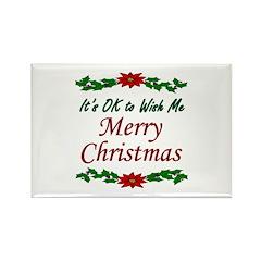 """Merry Christmas OK!"" Rectangle Magnet (100 pack)"