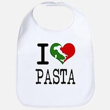 I Love Pasta Italian Bib