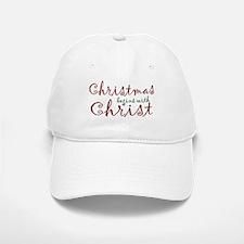 Christmas Begins with Christ Baseball Baseball Cap