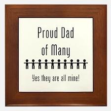 Dad of Many - 10 Kids Framed Tile