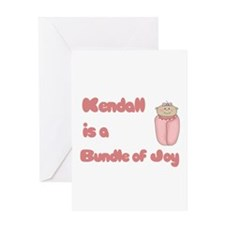 Kendall is a Bundle of Joy Greeting Card