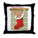 Chihuahua Christmas Stocking Throw Pillow