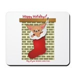 Chihuahua Christmas Stocking Mousepad
