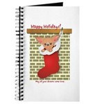 Chihuahua Christmas Stocking Journal