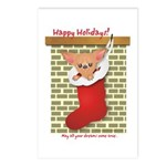 Chihuahua Christmas Stocking Postcards (Package of
