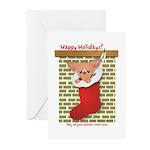 Chihuahua Christmas Stocking Greeting Cards (Pk of