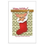 Chihuahua Christmas Stocking Large Poster
