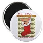 Chihuahua Christmas Stocking Magnet