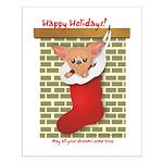 Chihuahua Christmas Stocking Small Poster