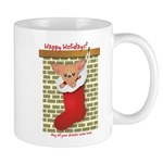 Chihuahua Christmas Stocking Mug
