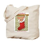Chihuahua Christmas Stocking Tote Bag