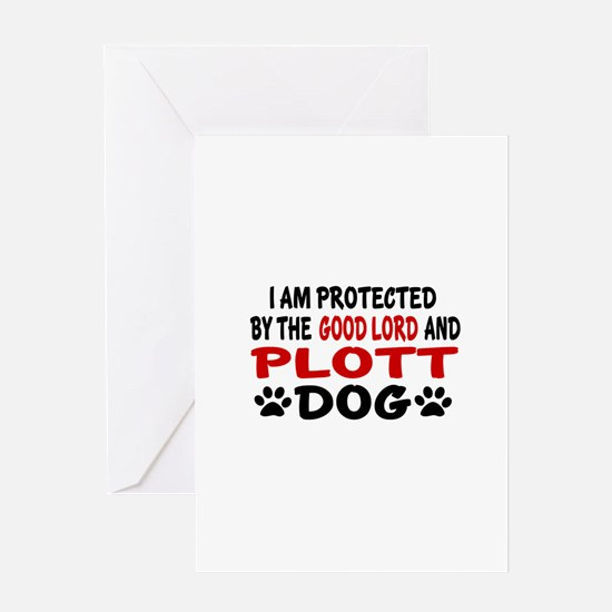 Protected By Plott Greeting Card