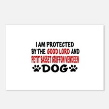 Protected By Petit Basset Postcards (Package of 8)