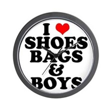 Shoes Bags & Boys Wall Clock