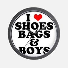 Shoes Bags & Boys Wall Clock