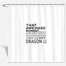 Awkward Dragon Li Cat Designs Shower Curtain